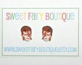 David Bowie - Ziggy Stardust - stud earrings