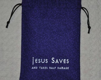 Dungeons and Dragons JESUS SAVES game dice bag