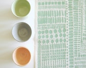 Watermark - screen printed fabric - chalky colours