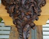 Art Nouveau Style Wall Shelf / Home Decor Interior Decor Style / Ornate Home Decoration