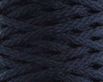 10 Yards Braided Macrame Cord - Navy Blue