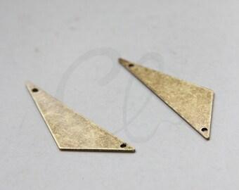 2pcs Antique Brass Triangle Link - 40x12mm (1992C-C-434)