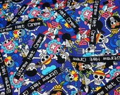 Japanese Anime  Fabric One piece anime  comic edition Half meter 50 cm by 106 cm or 19.6 by 42 inches (HAKOA20)