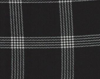 """PENDLETON Black & White Plaid Wool Suiting. 59""""wide. 1 yard"""