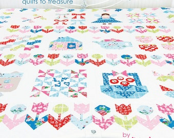 In Stock BOOK PRETTY PLAYTIME Quilts 6 Quilt Patterns by Elea Lutz