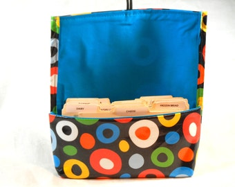 Coupon Organizer, Coupon Holder, Waterproof, Coupon Carrier, Purse Organizer, Bright Dots