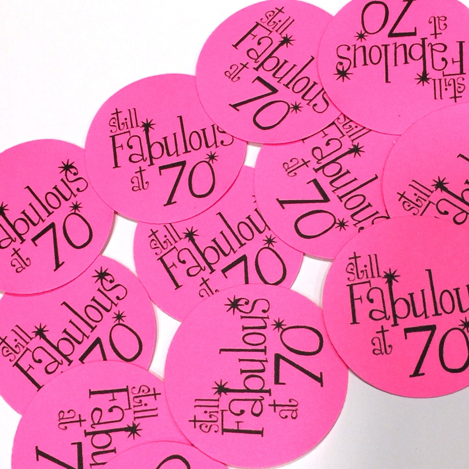 Fab At 70: 70th Birthday Stickers