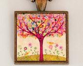 Sunny Tree Pendant Necklace