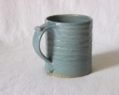 Glossy Blue/Green Thumbrest Coffee Mug