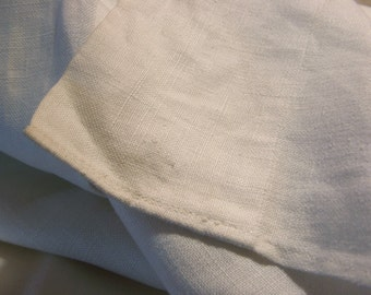 Antique Linen Sheet, hand loomed, seamed, 95 x 75 inches