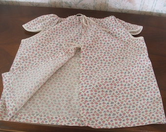 1920s Dress /Apron Toddler Girl, 1 pc Calico Country cotton fabric, handmade OOAK vintage clothes