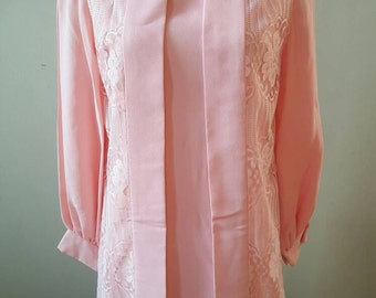Vintage Pink Lace 2 Way Dress