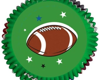 75 Football Cupcake Liner Baking Cup Baking Supplies
