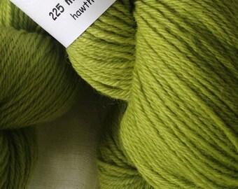 Apple Green Hand Dyed 8ply DK Merino Wool