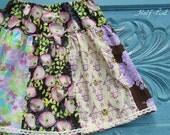 Ready to ship Girl's skirt, 7/8, 10/12, BOHO, Bohemian skirt, toddler skirt, infant skirt, Spring, Easter, Girl's panel skirt