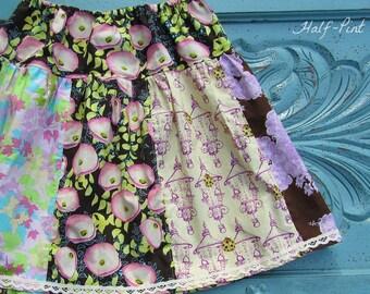 Ready to ship - twirl skirt - toddler skirt - boho skirt - flower skirt - cottage chic - summer skirt - bohemian skirt