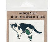 Cat in a Cast Temporary Tattoos -- Set of Two