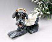 Schnauzer Angel Christmas Ornament Figurine Porcelain