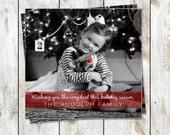 Santa Baby - Square Holiday Photo Christmas Cards - sets of 25 - Free Shipping
