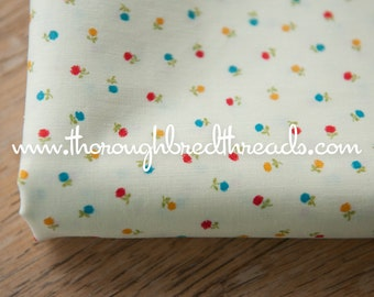 Colorful Lil Floral  - Vintage Fabric New Old Stock 36 in wide Sweet Daisies
