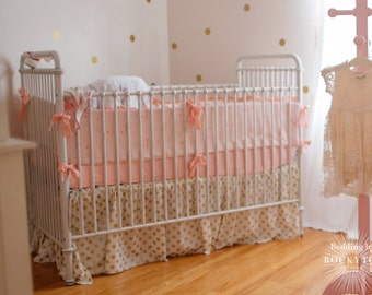 Ruffled CRIB SKIRT- Custom Crib Bedding You Design (choose your fabric)
