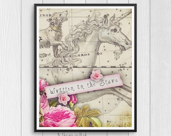 Written in the Stars - Printable Wall Art Digital Download Designed by Calico Collage - Print Your Own Images for Home Decoration
