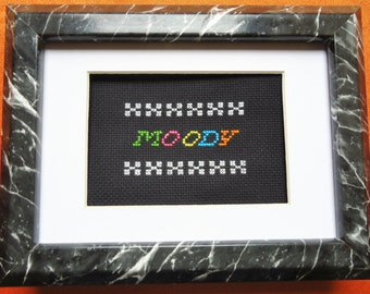 Moody Framed Cross Stitch
