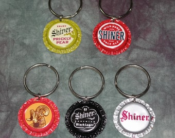 "Dog collar ""Bling"" charms from recycled Shiner Beer Bottle Caps (Sold Separately)"