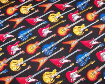 Fender Guitar Guitars rock Band Fabric By the YARD