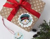 "Christmas Gift Tags - christmas -holiday - snowmen - snowman- ""Snowmen Friends"""
