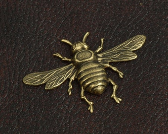 Large Bee Stamping made in USA, High detail 55mm long, sold by each 15308AG