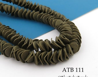7mm Antique Bronze Potato Chip Beads, Wavy Disks, Full Strand (ATB 111) 130 pcs BlueEchoBeads