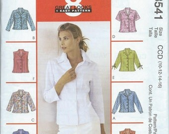 McCall's 3541 Misses' Shirts - Size 10-12-14-16 - Uncut Pattern