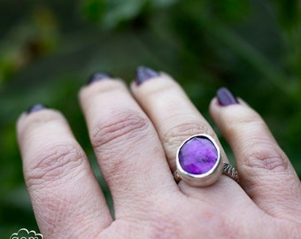 Rose cut Amethyst ring - Wish -