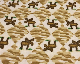 Flannel Moose Fabric