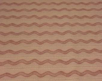 Pink Waves Cotton Fabric