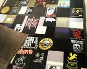 California King Memory Blanket PUNK MUSIC patchwork