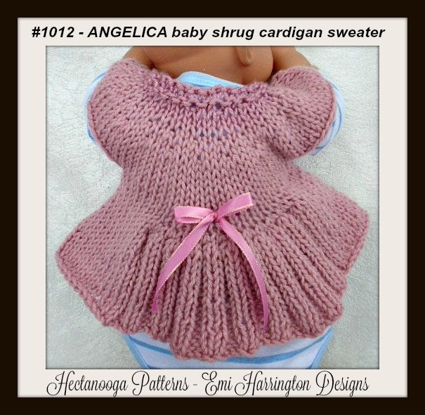 Knitting Pattern Baby Bolero Cardigan : KNITTING PATTERN Baby Shrug Cardigan Sweater Newborn to 1