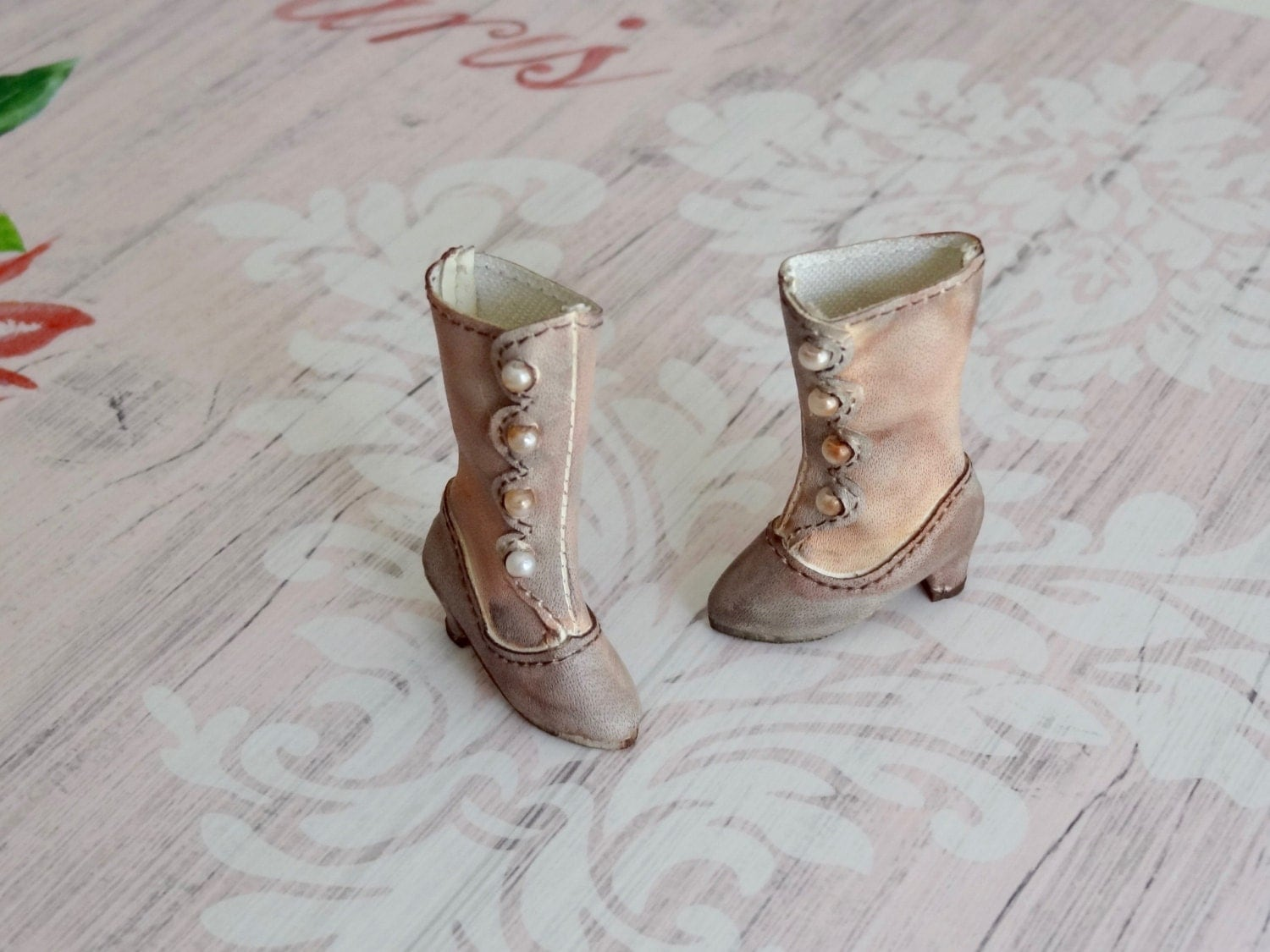 Victorian boots ooak 34 for blythe dolls all bodies and for Blythe le jardin