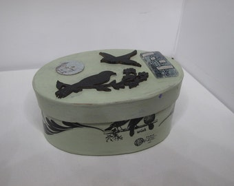 Trinket Box - Pistachio Mixed Media