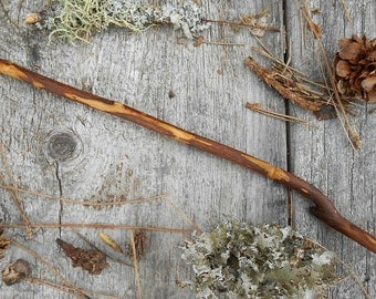 Plum wood wand, powers of fertility, protection spells, FREE US Shipping. magic wand