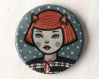 Little Fox - Hand Painted Brooch