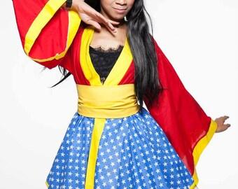 Amazonian Warrior Yukata Kimono Cosplay Dress