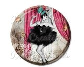 """50% OFF - Pocket Mirror, Magnet or Pinback Button - Wedding Favors, Party themes - 2.25""""- Vintage 1920s Life of the Party MR111"""