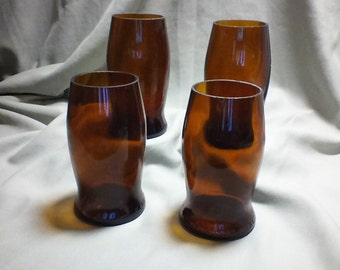 Vintage Set of four repurposed Michelobe Glasses
