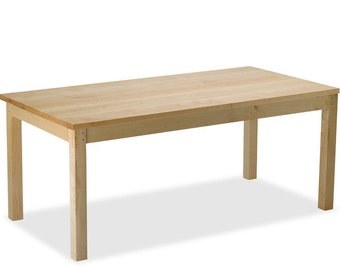 Square Wood Dining Table - Maple