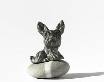 Antique Nuart Creations Scottie Dog Terrier Bookend Fragment