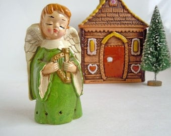 Vintage Christmas Angel Decoration | Fragrance Sachet | Little Choir Boy Figurine