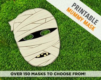 Mummy Halloween Mask   Party Mask   Instant Download