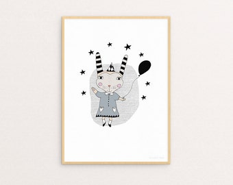 ON SALE! Circus Ruby A4 Print